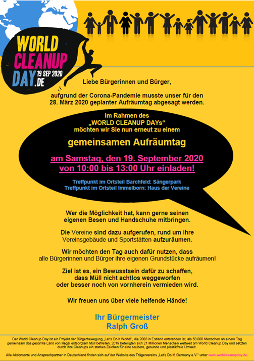 UPDATE! WorldCleanUpDay2020